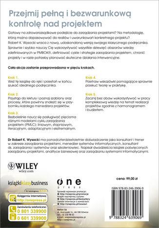 Tył okładki książki/ebooka Efektywne zarządzanie projektami. Wydanie VI