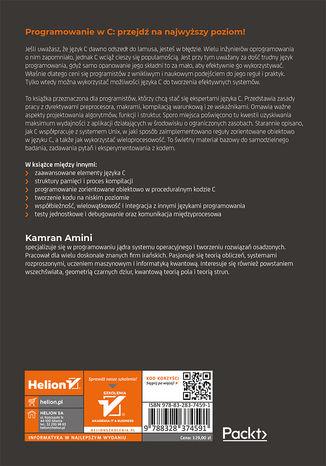 Tył okładki książki/ebooka Ekstremalny kod w języku C. Współbieżność i programowanie zorientowane obiektowo