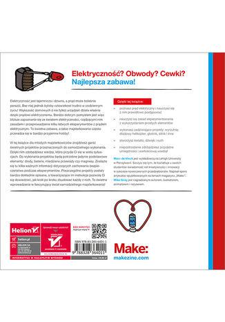 Tył okładki książki/ebooka Elektryczność dla młodych majsterkowiczów. Ciekawe projekty DIY