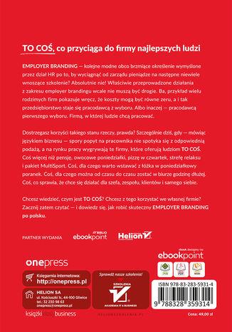 Tył okładki książki/ebooka Employer branding po polsku