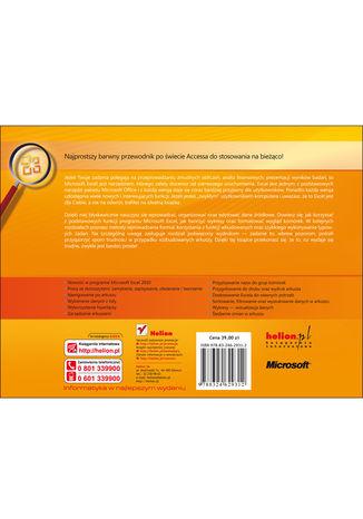 Tył okładki książki/ebooka Microsoft Excel 2010 PL. Praktyczne podejście