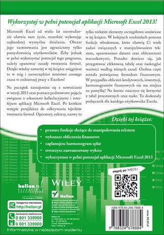 Tył okładki książki/ebooka Excel 2013 PL. Formuły