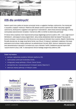 Tył okładki książki iOS. Tajniki SDK. Biblioteka przydatnych narzędzi
