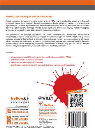 Tył okładki książki Podręcznik freelancera. Tajniki sukcesu niezależnego projektanta stron WWW. Smashing Magazine
