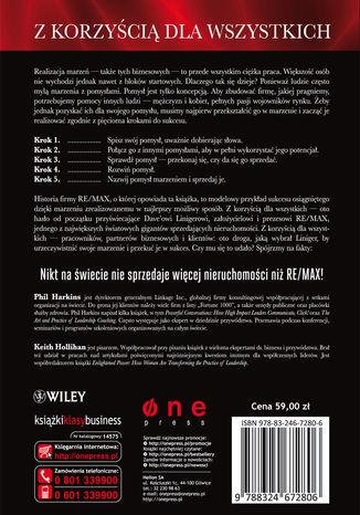 Tył okładki książki/ebooka Z korzyścią dla wszystkich. Historia firmy RE/MAX i płynąca z niej lekcja