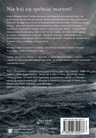 Tył okładki książki/ebooka Calder. Narodziny odwagi