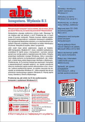 Tył okładki książki/ebooka ABC komputera. Wydanie 8.1