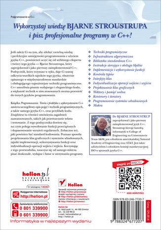 Tył okładki książki Programowanie. Teoria i praktyka z wykorzystaniem C++. Wydanie II poprawione