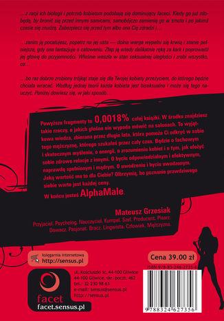 Tył okładki książki/ebooka AlphaMale. Wydanie II rozszerzone