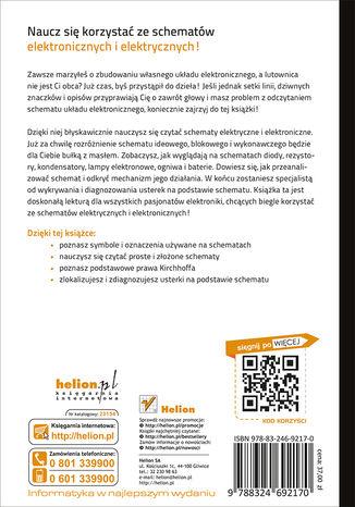 Tył okładki książki/ebooka Schematy elektroniczne i elektryczne. Przewodnik dla początkujących. Wydanie III