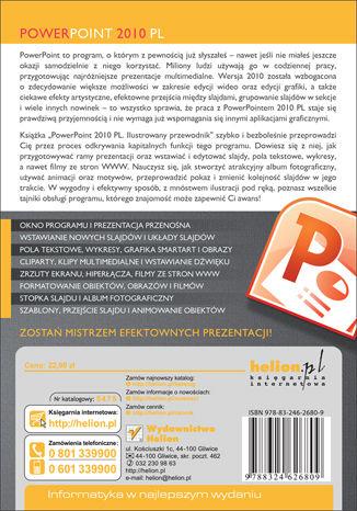 Tył okładki książki/ebooka PowerPoint 2010 PL. Ilustrowany przewodnik