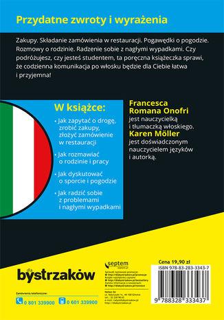 Tył okładki książki/ebooka Rozmówki włoskie dla bystrzaków
