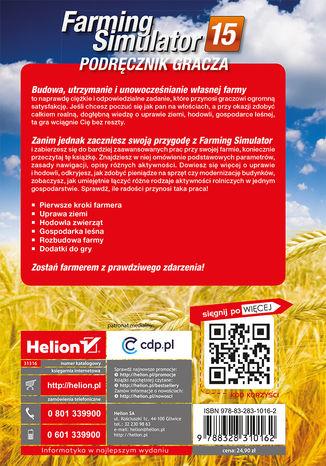 Tył okładki książki/ebooka Farming Simulator. Podręcznik gracza