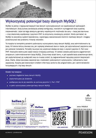 Tył okładki książki/ebooka MySQL. Vademecum profesjonalisty. Wydanie V