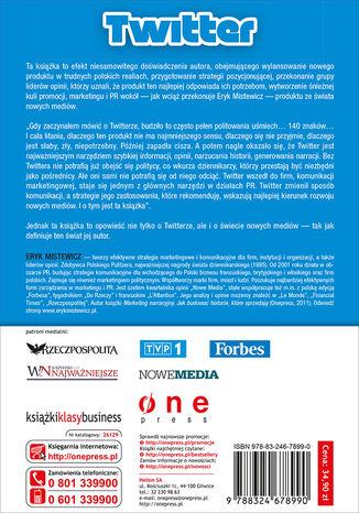 Okładka książki Twitter - sukces komunikacji w 140 znakach. Tajemnice narracji dla firm, instytucji i liderów opinii