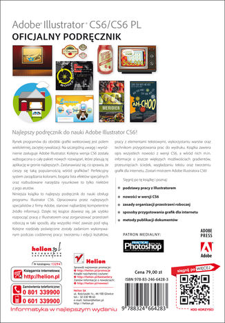 Tył okładki książki/ebooka Adobe Illustrator CS6/CS6 PL. Oficjalny podręcznik