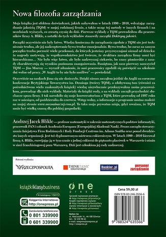 Tył okładki książki/ebooka Doktryna jakości. Rzecz o skutecznym zarządzaniu