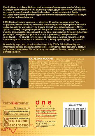Tył okładki książki/ebooka Forex w praktyce. Vademecum inwestora walutowego. Wydanie II rozszerzone