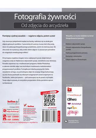 Tył okładki książki/ebooka Fotografia kulinarna. Od zdjęcia do arcydzieła