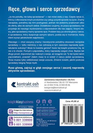 Tył okładki książki/ebooka Gen sprzedawcy. Jak obudzić w sobie wrodzone umiejętności handlowe. Wydanie II rozszerzone