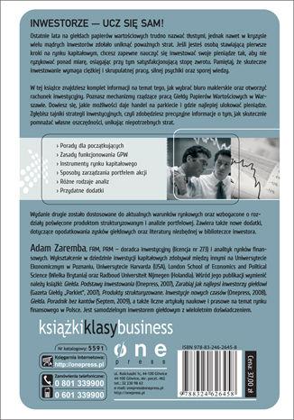 Tył okładki książki/ebooka Giełda. Podstawy inwestowania. Wydanie II rozszerzone