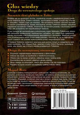 Tył okładki książki/ebooka Głos wiedzy. Droga do wewnętrznego spokoju