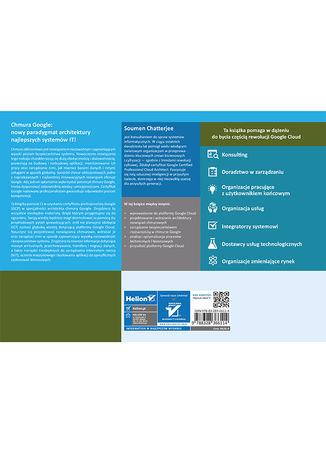Tył okładki książki/ebooka Google Cloud Certified Professional Cloud Architect. Wprowadzenie do platformy i materiały egzaminacyjne. Wydanie II