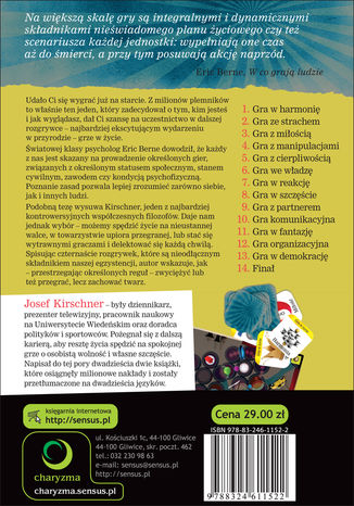 Tył okładki książki/ebooka Gra w życie