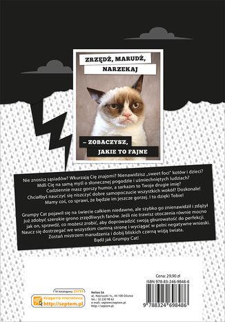Tył okładki książki/ebooka Grumpy Cat. Książeczka rasowego marudy