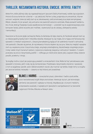 Tył okładki książki/ebooka Historia przyszłości. Oculus, Facebook i rewolucja wirtualnej rzeczywistości