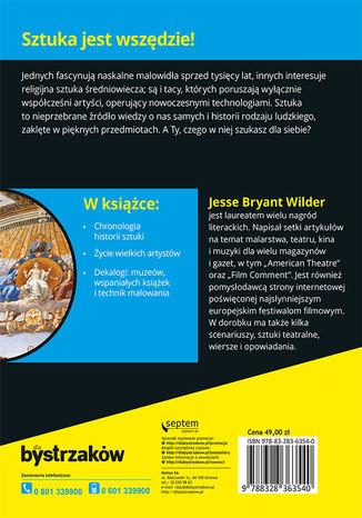 Tył okładki książki/ebooka Historia sztuki dla bystrzaków