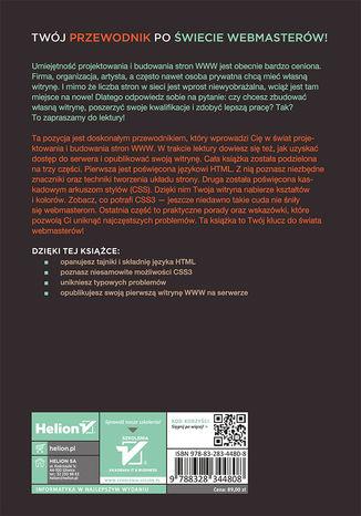 Tył okładki książki/ebooka HTML i CSS. Zaprojektuj i zbuduj witrynę WWW. Podręcznik Front-End Developera