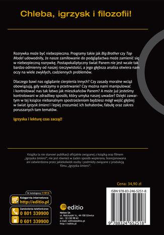 Tył okładki książki/ebooka Igrzyska śmierci i filozofia. Rzecz o podglądactwie