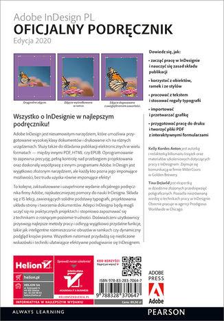 Tył okładki książki/ebooka Adobe InDesign PL. Oficjalny podręcznik. Edycja 2020