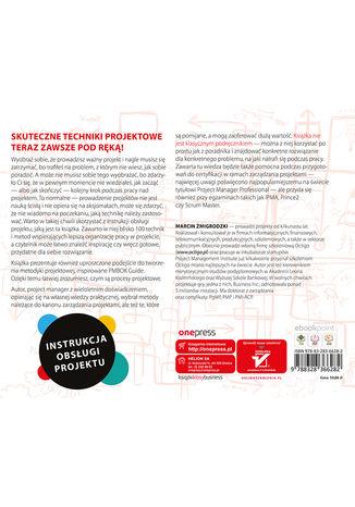 Tył okładki książki/ebooka Instrukcja obsługi projektu