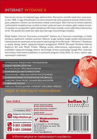 Tył okładki książki/ebooka Internet. Ilustrowany przewodnik. Wydanie II