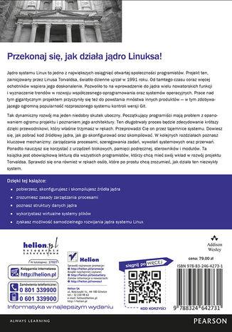 Tył okładki książki/ebooka Jądro Linuksa. Przewodnik programisty