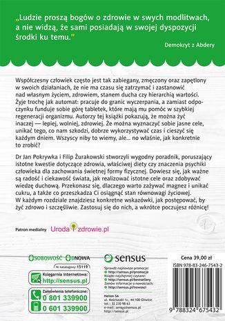 Tył okładki książki/ebooka Na zdrowie! Jak osiągnąć harmonię ciała, ducha i umysłu
