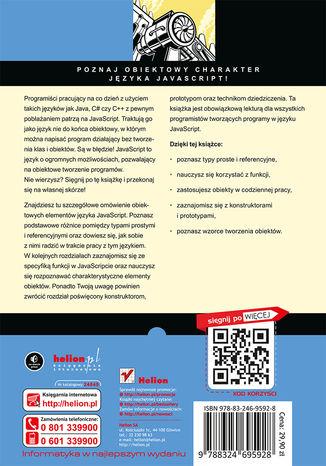 Tył okładki książki/ebooka JavaScript. Zasady programowania obiektowego