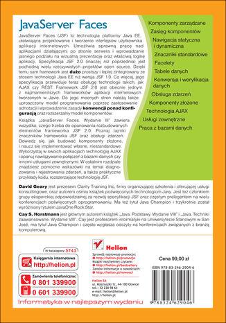 Tył okładki książki/ebooka JavaServer Faces. Wydanie III