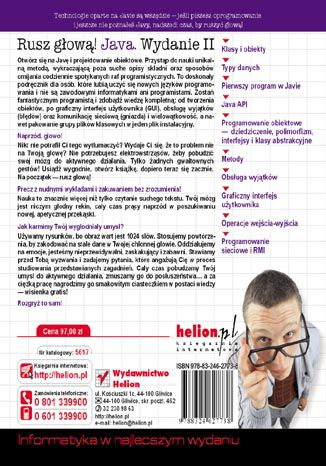 Tył okładki książki/ebooka Java. Rusz głową! Wydanie II