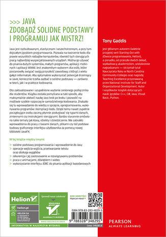 Tył okładki książki/ebooka Java dla zupełnie początkujących. Owoce programowania. Wydanie VII