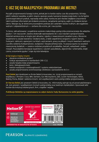 Tył okładki książki/ebooka Język C. Solidna wiedza w praktyce. Wydanie VIII