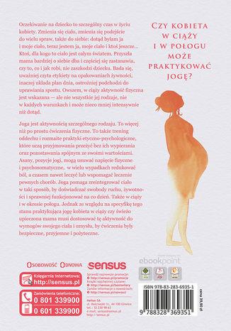 Tył okładki książki/ebooka Joga w ciąży i połogu