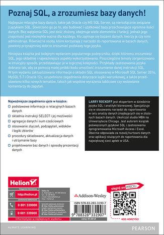 Tył okładki książki/ebooka Język SQL. Przyjazny podręcznik. Wydanie II