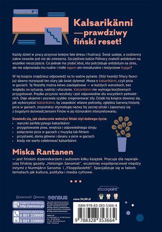 Tył okładki książki/ebooka Kalsarikänni. Sztuka relaksu po fińsku