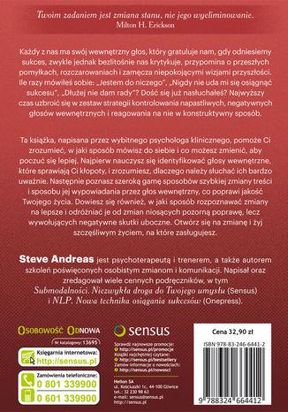 Tył okładki książki/ebooka Kontrolowanie wewnętrznego krytyka. Efektywne ćwiczenia praktyczne