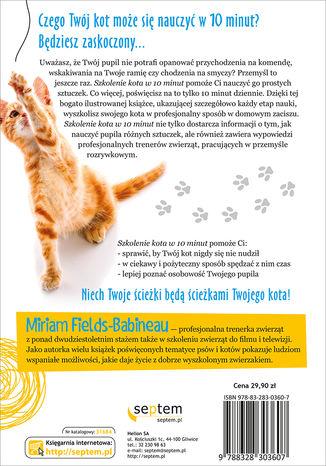 Tył okładki książki/ebooka Szkolenie kota w 10 minut