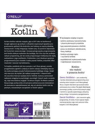 Tył okładki książki/ebooka Kotlin. Rusz głową!
