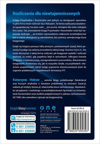 Tył okładki książki/ebooka Księga Przychodów i Rozchodów. Wszystko, co musisz wiedzieć o rozliczaniu działalności gospodarczej. Wydanie II zaktualizowane